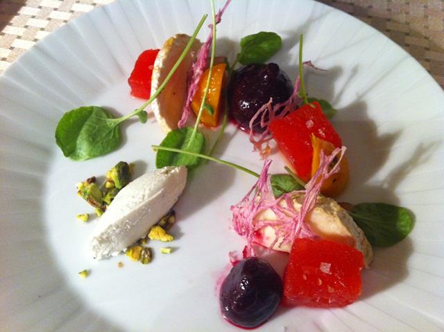 Beet and Goat cheese salad from room service at Four Seasons Baltimore.jpg
