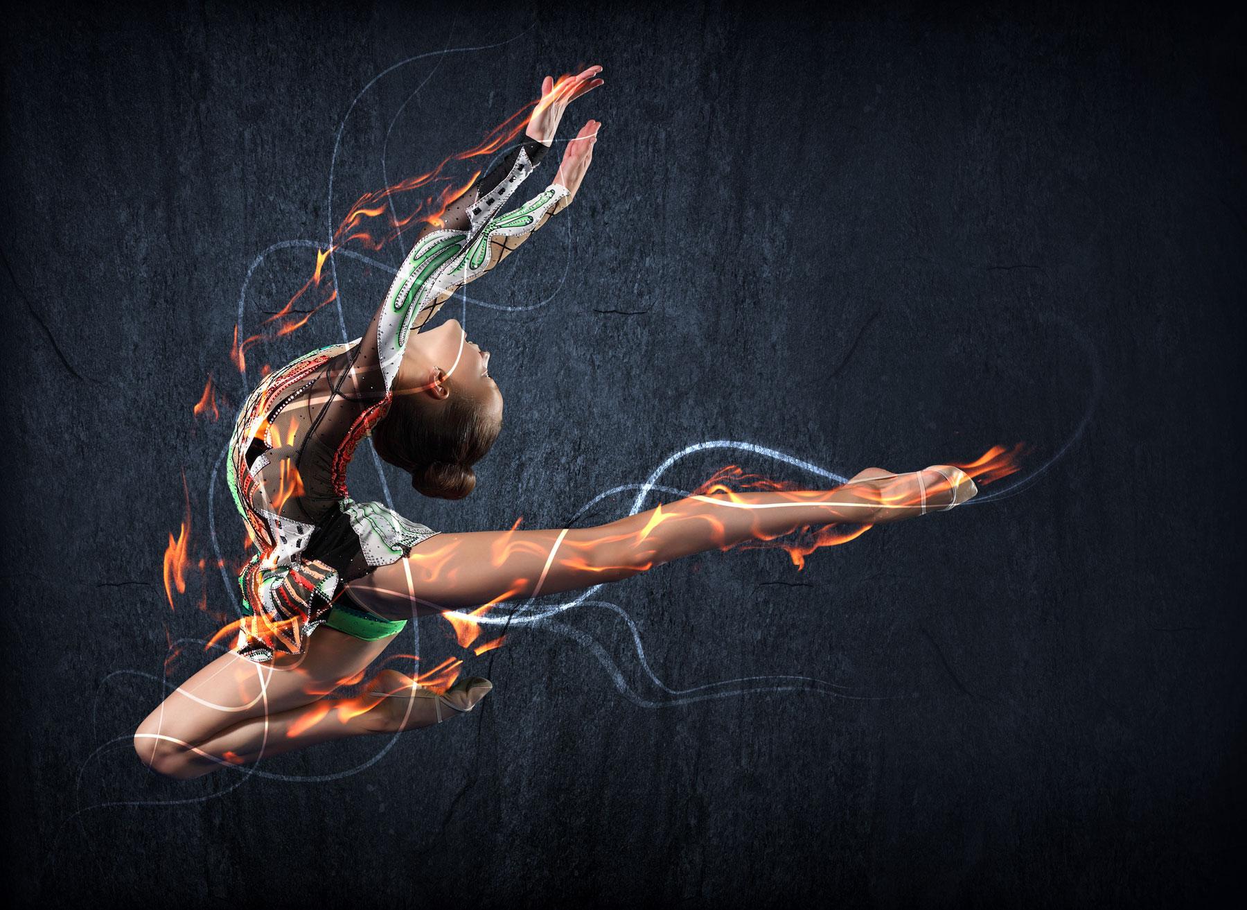 Фотосессия костюмов гимнасток 14 фотография
