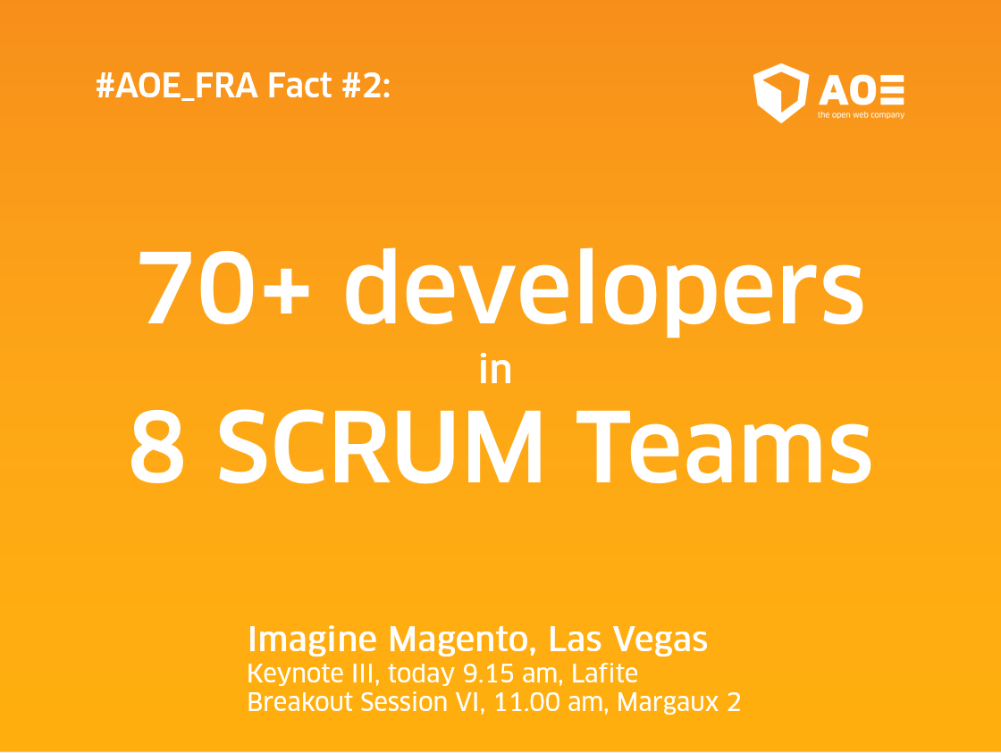aoepeople: #AOEFraport project quick fact #2: 70+ people working on it in 8 #SCRUM teams! #MagentoImagine @Magento @Airport_FRA https://t.co/Qr2tnm4Ckf