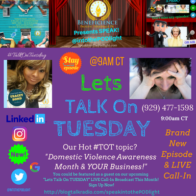 Our Hot #TOT topic- #TalkOnTuesday DomesticViolenceAwarenessmonth BlogTalkRadio.com%2FSpeakIntoThePodlight.png