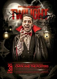 Design Cloud: Epic Twilight Halloween Flyer Template