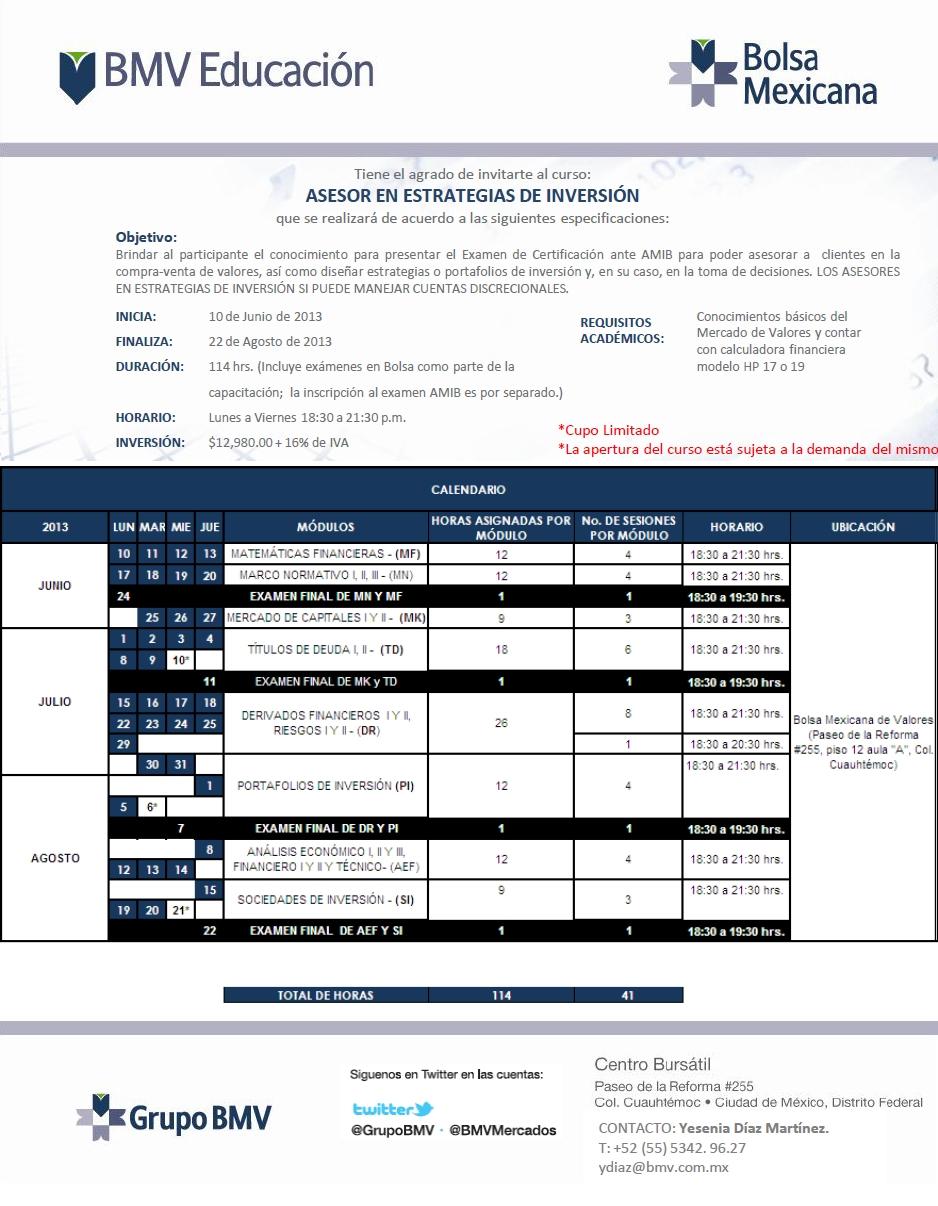 Asesor en Estrategias de Inversión - BMV Educacion